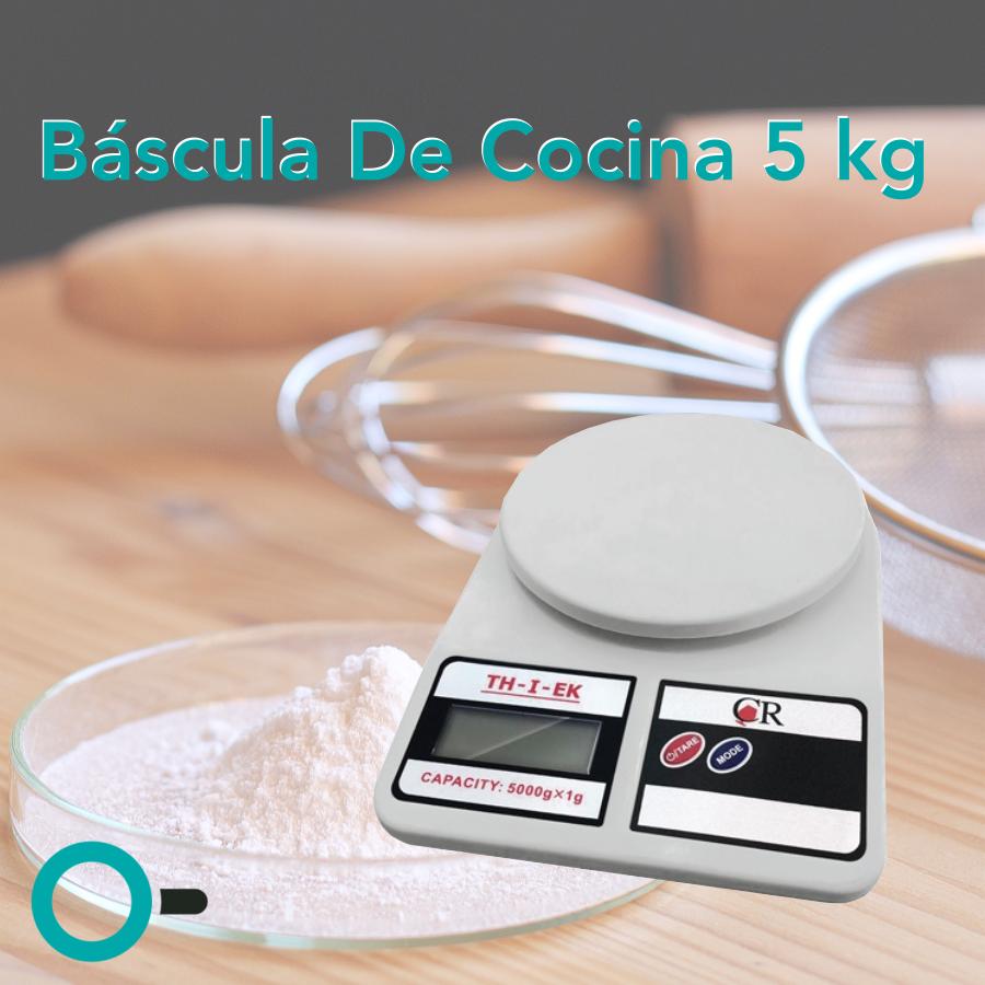bascula electronica para cocina 5 kilogramos kg